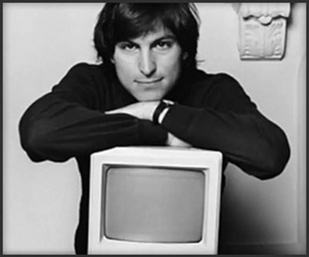 Steve Jobs with Macintosh