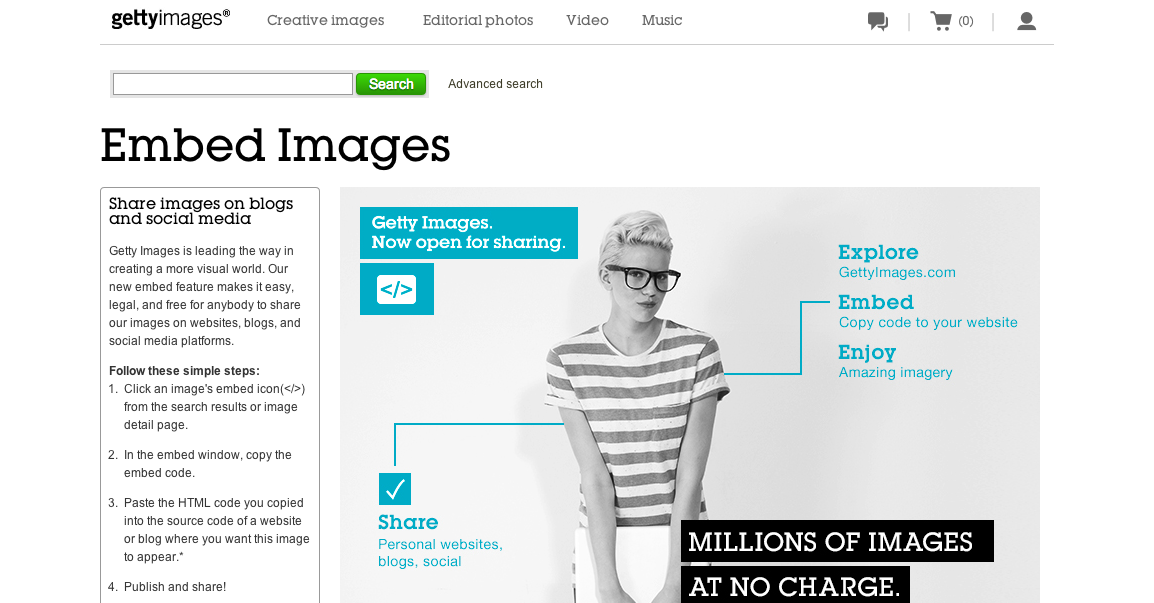 Getty Embed Photos